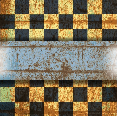 vintage crack old scratched empty chess board. abstract grunge background. . Stock Photo