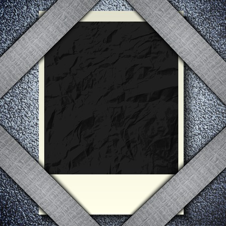 Vintage retro photo hanging on a stone wall with space for your text. . photo
