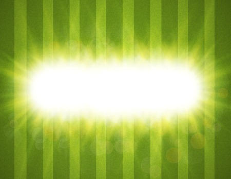 overlying: Abstract green blurry background with overlying semi transparent circles, light effects and sun burst. .
