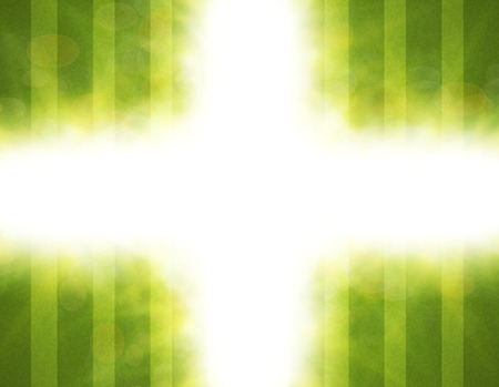 semitransparent: Abstract green blurry background with overlying semi transparent circles, light effects and sun burst. .