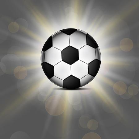 Soccer ball icon, flat design. flat illustration. illustration