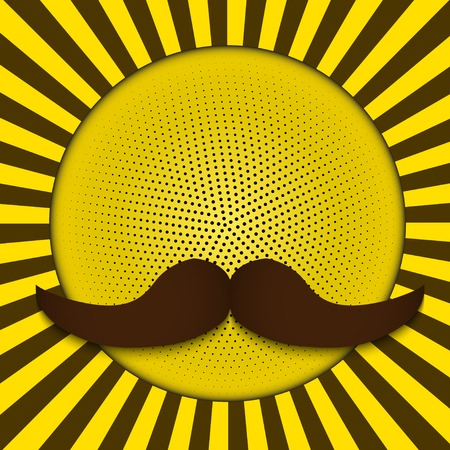 Happy Father Day Mustache Love. Vintage background. . photo