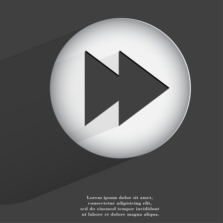 player controls. Flat modern web button with long shadow and space for your text. . photo