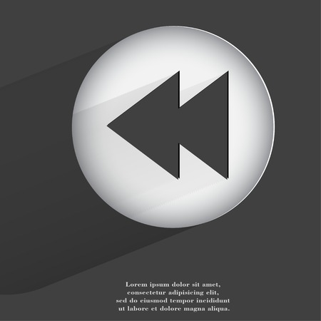 player controls: player controls. Flat modern web button with long shadow and space for your text. .