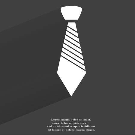 dresscode: Hipster tie. Flat modern web button with long shadow and space for your text. .