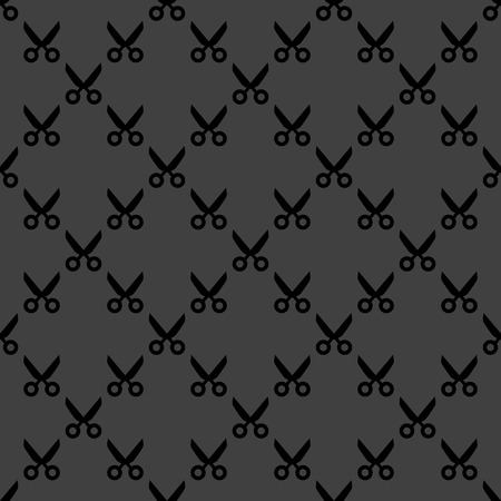 Scissors web icon. flat design. Seamless pattern.