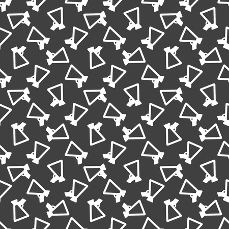 Megaphone. web icon. flat design. Seamless pattern.  Vector