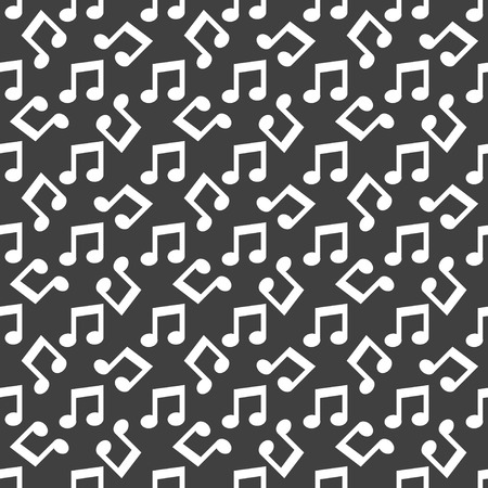 Music note web icon. flat design. Seamless pattern. Vector