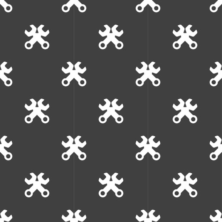 Wrench. tool to work web icon. flat design. Seamless pattern. Vector