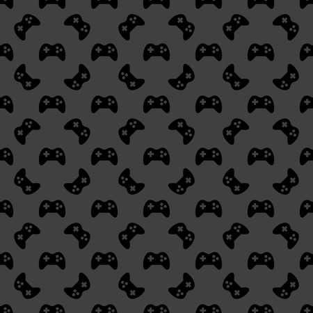 Gaming Joystick web icon. flat design. Seamless pattern.  Vector