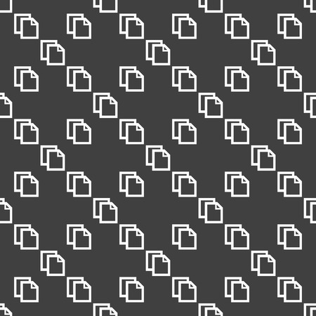 blank paper web icon. flat design. Seamless pattern.  Vector