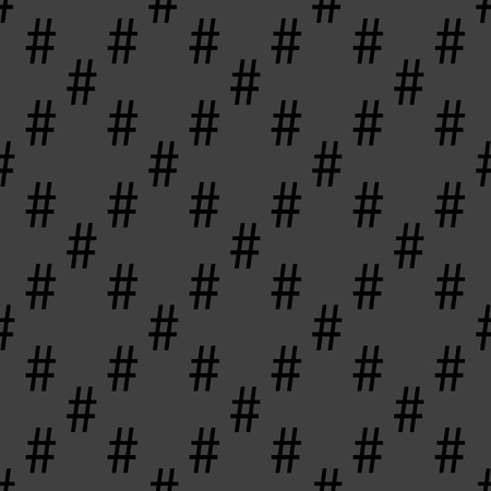 hash: hash tag. flat design. Seamless pattern.