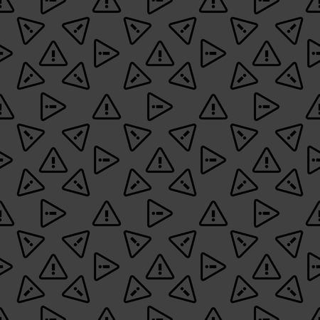 dangerous ideas: danger web icon. flat design. Seamless pattern.