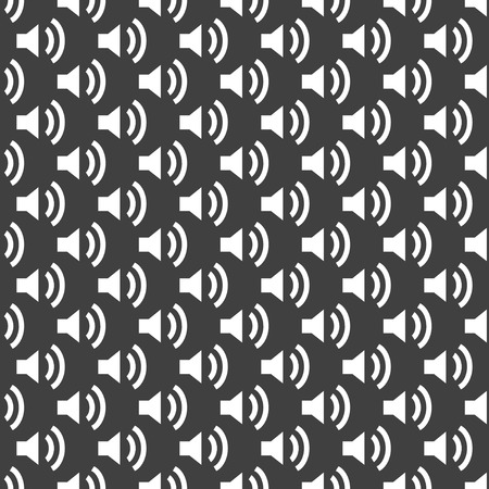 Speaker web icon flat design. Seamless pattern.   Vector