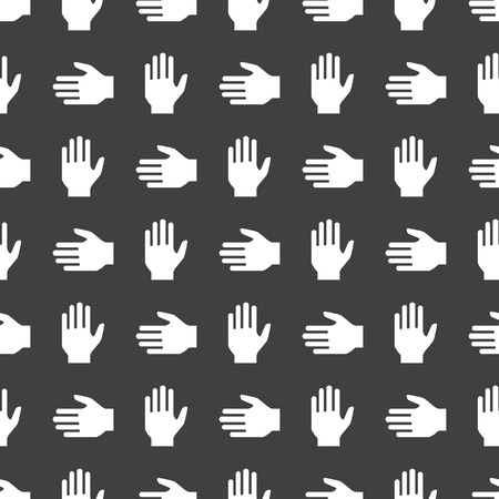 hand web icon. flat design. Seamless pattern.   Vector