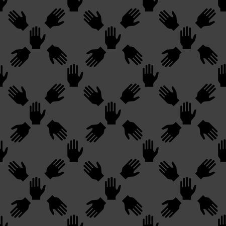 area restringida: web icon mano. dise�o plano. Seamless pattern.