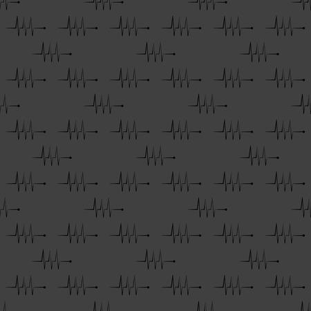 infarctus: le rythme cardiaque de l'ic�ne Web. design plat. Motif gris transparent. Illustration