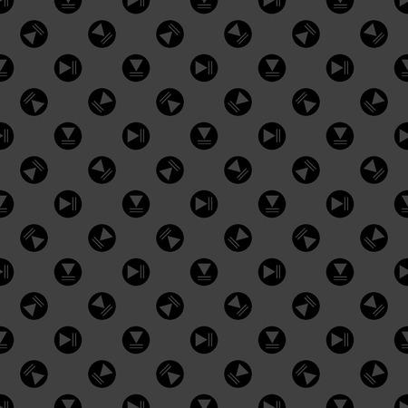 Play button web icon. flat design. Seamless pattern.  Illustration