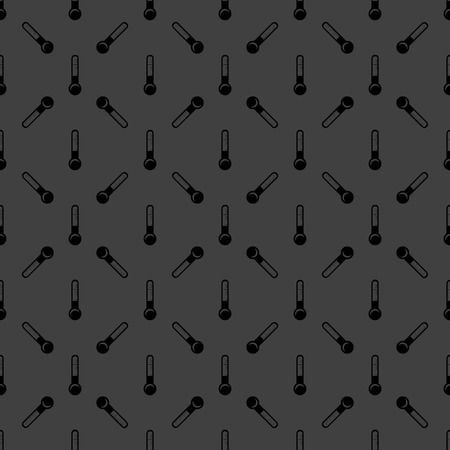 Thermometer. web icon. flat design. Seamless gray pattern.   Vector