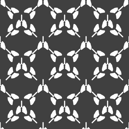 poumon humain: Human ic�ne web du poumon. design plat. Motif gris transparente