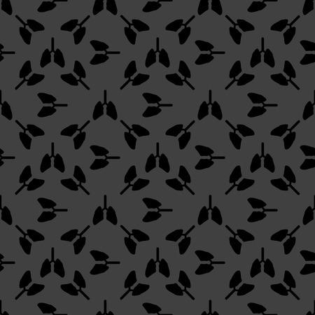 respiratory protection: Human lung web icon. flat design. Seamless gray pattern.