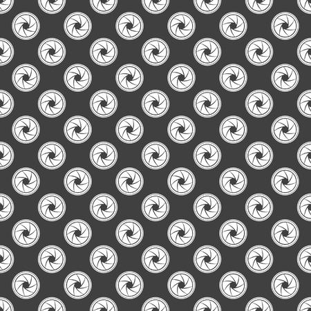 diaframma: Foto diaframma della macchina fotografica icona web. design piatto. Seamless grigio. Vettoriali