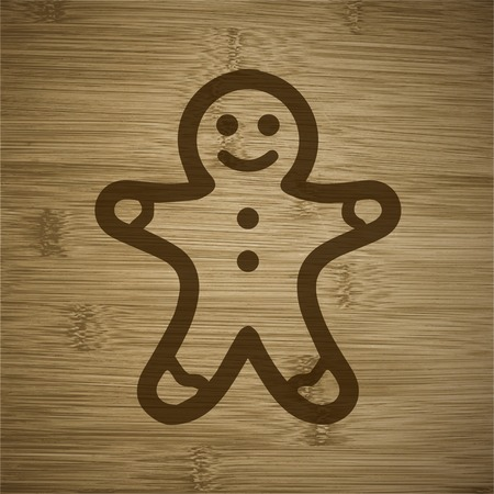 gingerbreadman: Gingerbread.   Illustration