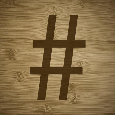 hash: sharp or hash tag.