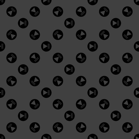 Play button web icon. flat design. Seamless pattern. photo
