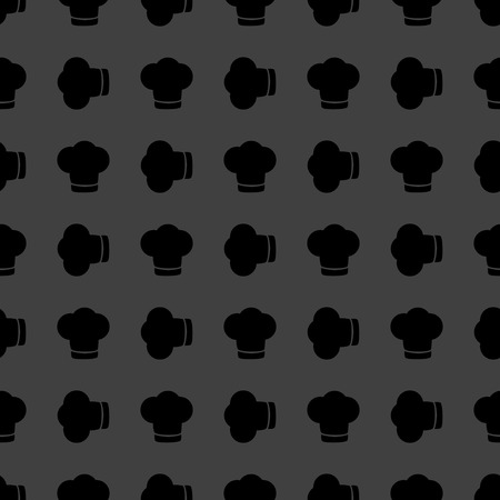 cook out: Chef cap web icon. flat design. Seamless gray pattern.