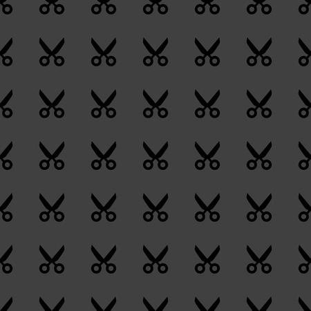 Scissors web icon. flat design. Seamless pattern. photo