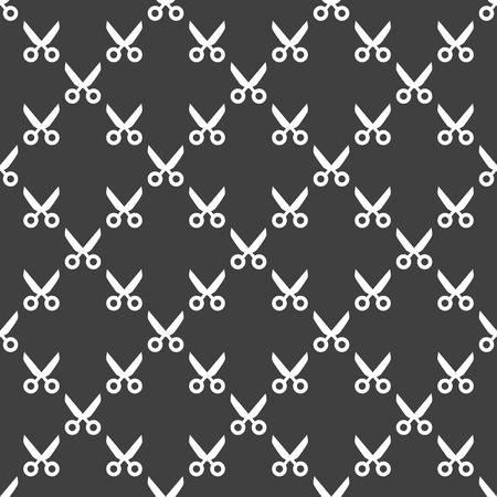 Scissors web icon. flat design. Seamless pattern. photo
