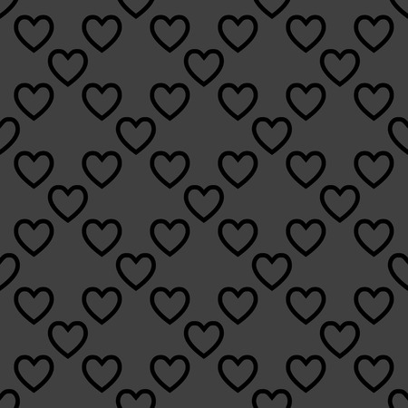 Heart web icon. flat design. Seamless pattern. photo