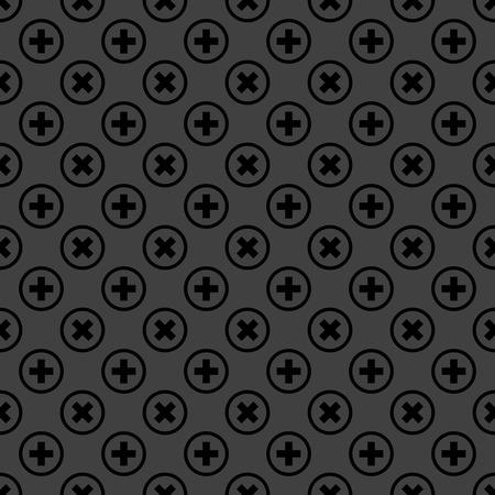 cancel  web icon. flat design. Seamless pattern. Stock Photo