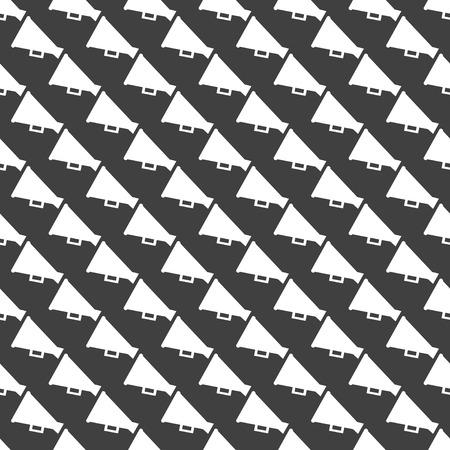 loudhailer: Meg�fono, icono del Web meg�fono. dise�o plano. Modelo gris sin costuras.