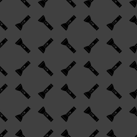 Icono de web linterna. dise�o plano. Seamless patr�n gris. photo