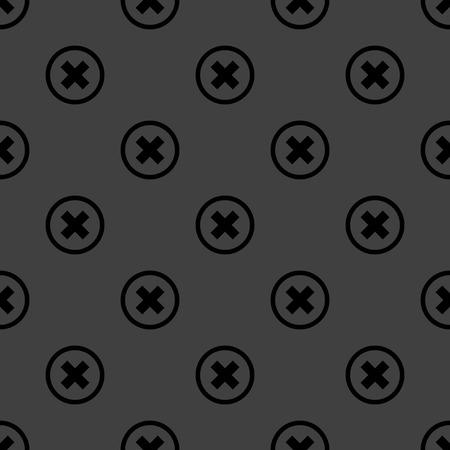 cancel  web icon. flat design. Seamless pattern. photo
