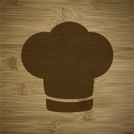 cook out: Chef cap. Cooking. Flat modern web button and space for your text. Vector. EPS10