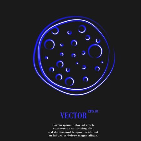diaframma: Macchina fotografica diaframma. Appartamento web pulsante moderno e lo spazio per il testo. Vector. EPS10 Vettoriali