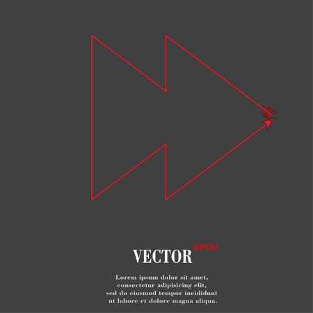 multimedia control. Flat modern web button and space for your text. Vector. EPS10 Vector