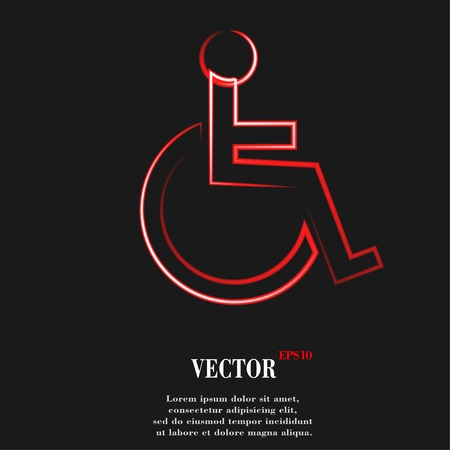 disabled. Flat modern web button and space for your text. Vector. EPS10 Vector