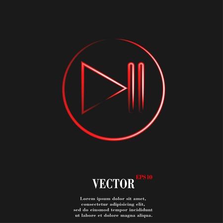 Play button web icon, flat design. Vector illustration. EPS10 Banco de Imagens - 29563621