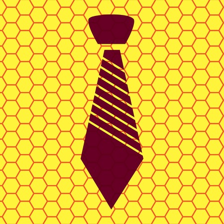 dresscode: Hipster tie. Flat modern web button and space for your text. Vector. EPS10 Illustration