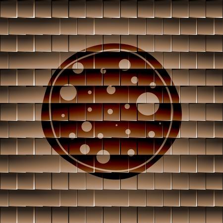 diaframma: Macchina fotografica diaframma. Appartamento pulsante web moderno e lo spazio per il testo. Vettore. EPS10