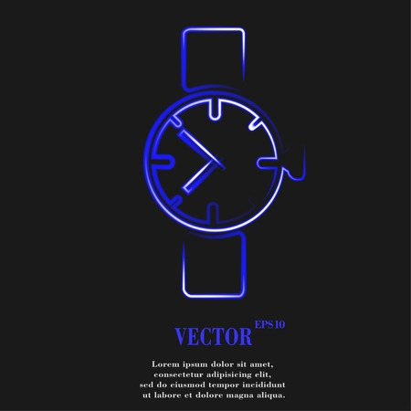 clock gears: Watch,clock Flat modern web button and space for your text. Vector. EPS10