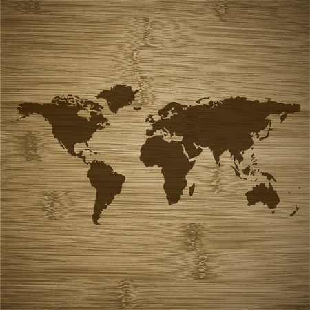 finest: Detailed the most finest world map. flat design.