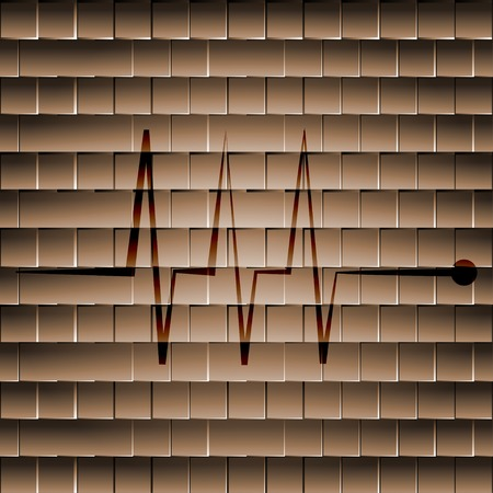 Heart  pulse flat design with abstract background. photo