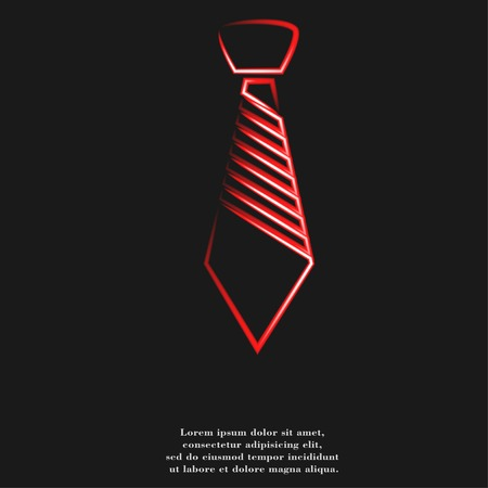 tie icon flat design with abstract background. photo