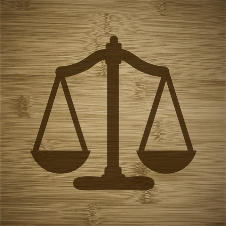 acquit: Scales balance icon. flat design with abstract background. Stock Photo