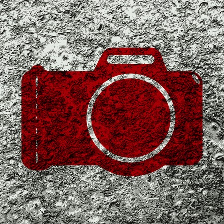 Photo camera icon flat design with abstract background. photo